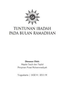 Buku Panduan Ramadhan Muhammadiyah